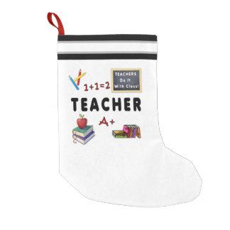 Calcetín Navideño Pequeño Los profesores lo hacen con la clase