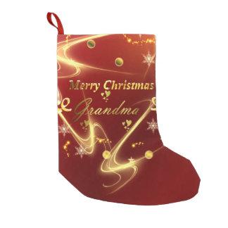 Calcetín Navideño Pequeño media de la abuela de las Felices Navidad
