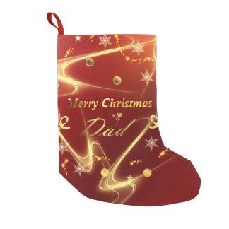 Calcetín Navideño Pequeño media del papá de las Felices Navidad