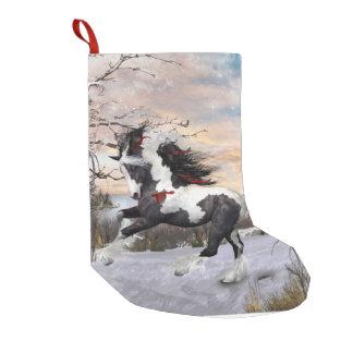 Calcetín Navideño Pequeño Media gitana del caballo de Vanner