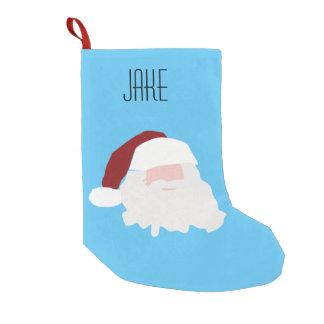 Calcetín Navideño Pequeño Media nombrada personalizado de Jake Santa