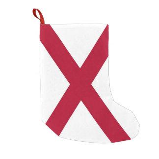 Calcetín Navideño Pequeño Medias del navidad con la bandera de Alabama, los