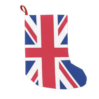 Calcetín Navideño Pequeño Medias del navidad con la bandera de Reino Unido