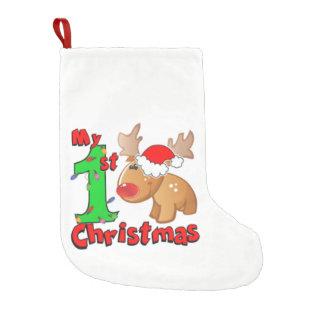 Calcetín Navideño Pequeño Mi 1r reno del navidad