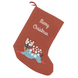 Calcetín Navideño Pequeño Mini almacenamiento juguetón de las Felices
