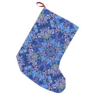 Calcetín Navideño Pequeño Modelo floral de la acuarela del lux caprichoso
