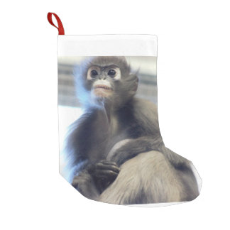 Calcetín Navideño Pequeño Mono