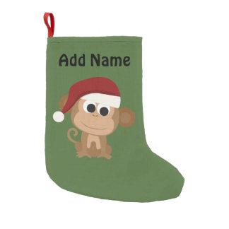 Calcetín Navideño Pequeño Mono de Santa