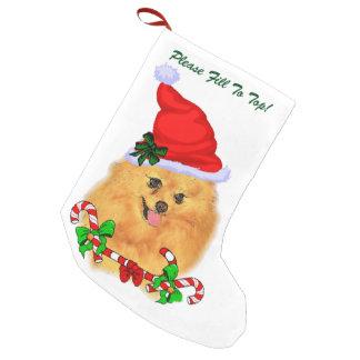 Calcetín Navideño Pequeño Navidad de Pomeranian