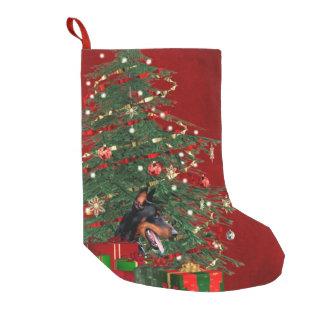 Calcetín Navideño Pequeño Navidad del Doberman