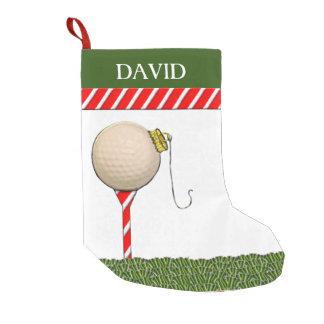 Calcetín Navideño Pequeño Navidad del golf