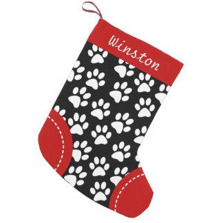 Calcetín Navideño Pequeño Navidad personalizado negro temático de la pata