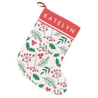 Calcetín Navideño Pequeño Navidad personalizado que almacena - alegría del