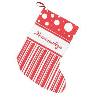 Calcetín Navideño Pequeño Navidad rojo y blanco
