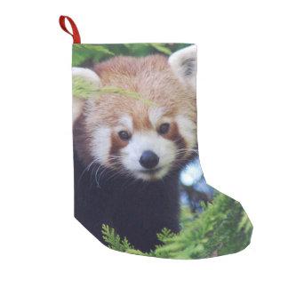 Calcetín Navideño Pequeño Panda roja