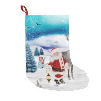 Calcetín Navideño Pequeño Papá Noel divertido