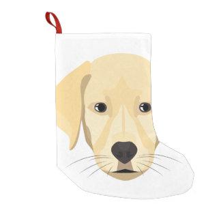 Calcetín Navideño Pequeño Perrito Retriver de oro del ilustracion