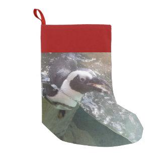 Calcetín Navideño Pequeño Pingüino