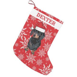 Calcetín Navideño Pequeño Regalo personalizado del Dachshund del perro