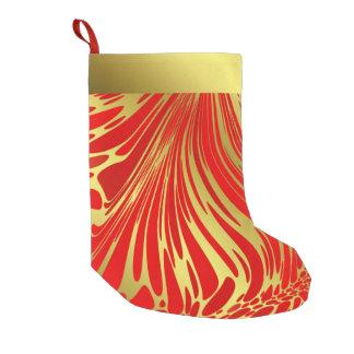 Calcetín Navideño Pequeño rojo moderno en el almacenamiento del navidad del