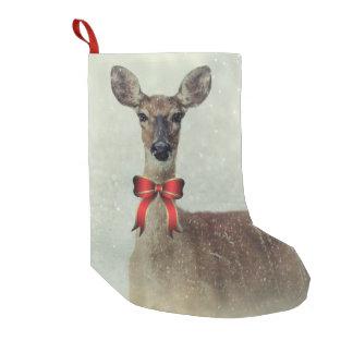 Calcetín Navideño Pequeño Saludos del día de fiesta de los ciervos del