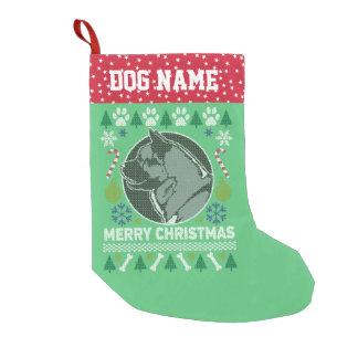 Calcetín Navideño Pequeño Suéter feo del navidad de la raza de Akita Bull