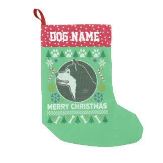 Calcetín Navideño Pequeño Suéter feo del navidad de la raza de Bull del