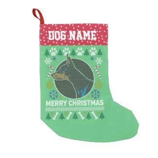 Calcetín Navideño Pequeño Suéter feo del navidad de la raza del perro del