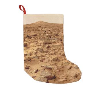 Calcetín Navideño Pequeño Superficie rocosa del planeta Marte