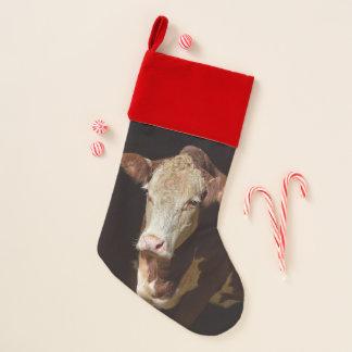 Calcetín Navideño Vaca gruñona divertida