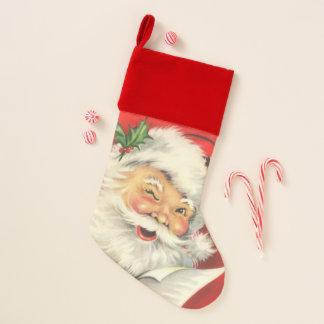 Calcetín Navideño Vintage Papá Noel