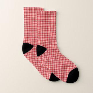 Calcetines A cuadros rojo y blanco