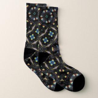 Calcetines abstractos decorativos negros del