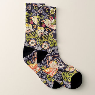 Calcetines Arte floral Nouveau del ladrón de la fresa de