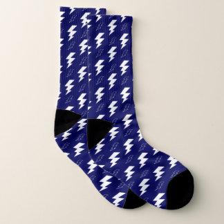 Calcetines Azul blanco del aligeramiento