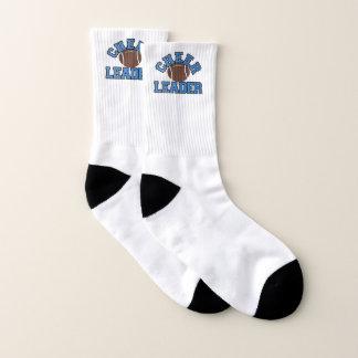 Calcetines azules de la animadora del fútbol