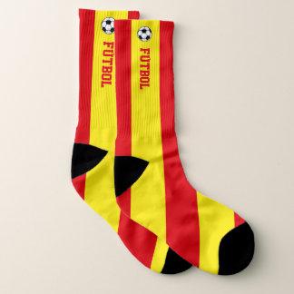 Calcetines Bandera Fútboll de España y su texto