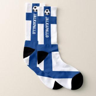 Calcetines Bandera Jalkapallo de Finlandia y su texto
