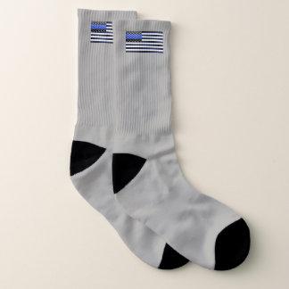 Calcetines Blue Line fino señala por medio de una bandera