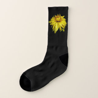Calcetines Dalia cubierta de rocio amarilla