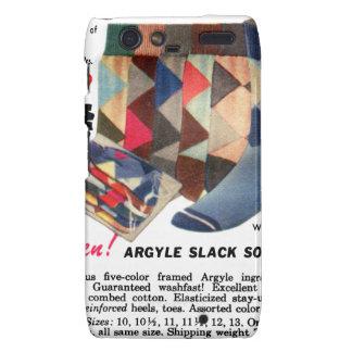 Calcetines de Argyle del kitsch del vintage de los Carcasa Para Motorola Droid RAZR