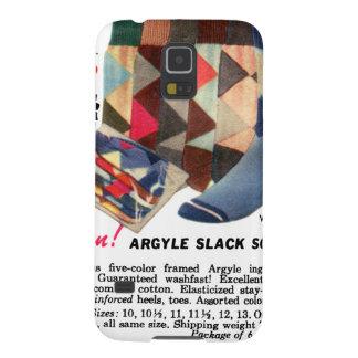 Calcetines de Argyle del kitsch del vintage de los Carcasas Para Galaxy S5