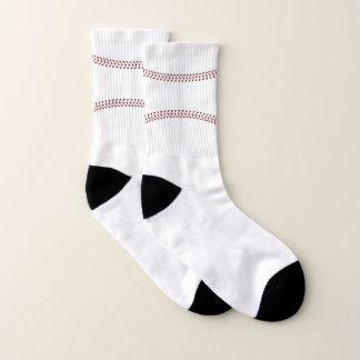 Calcetines de costura del diseño del béisbol