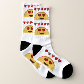 Calcetines de Emoji del amor del Taco