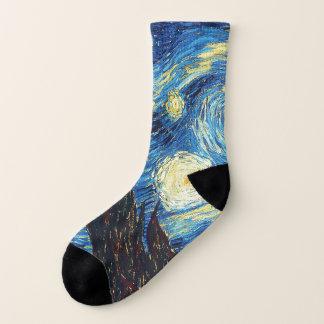 Calcetines de la bella arte de la noche estrellada