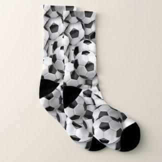 Calcetines del equipo de los balones de fútbol