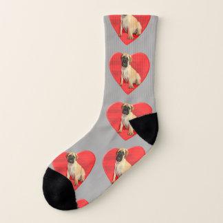 Calcetines del perro del perro del mastín del amor