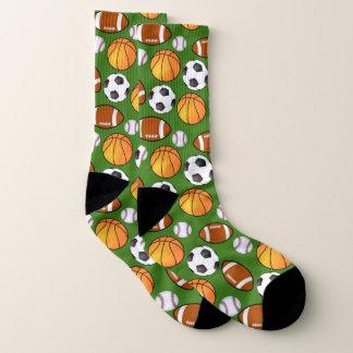 Calcetines Deportivo lindo y la diversión se divierte tema