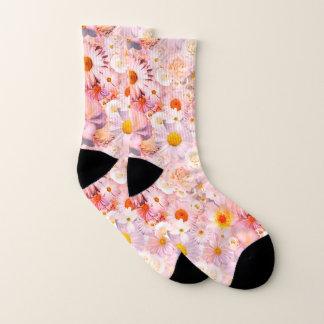 Calcetines El rosa florece la primavera nupcial del boda