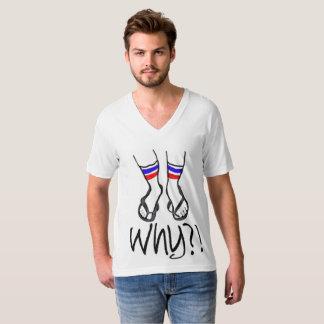 Calcetines en fracasos camiseta